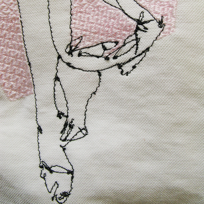 Nude-1 embroidery detail