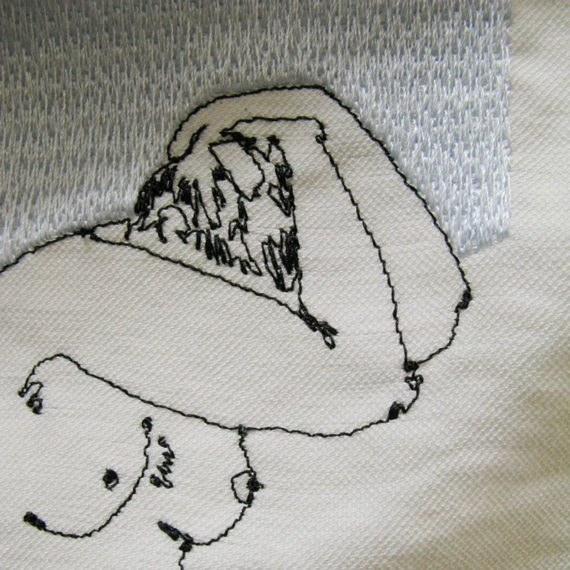 Nude-3 embroidery detail
