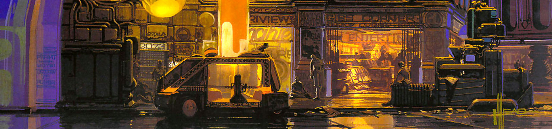 Syd Mead desings for Blade Runner-2