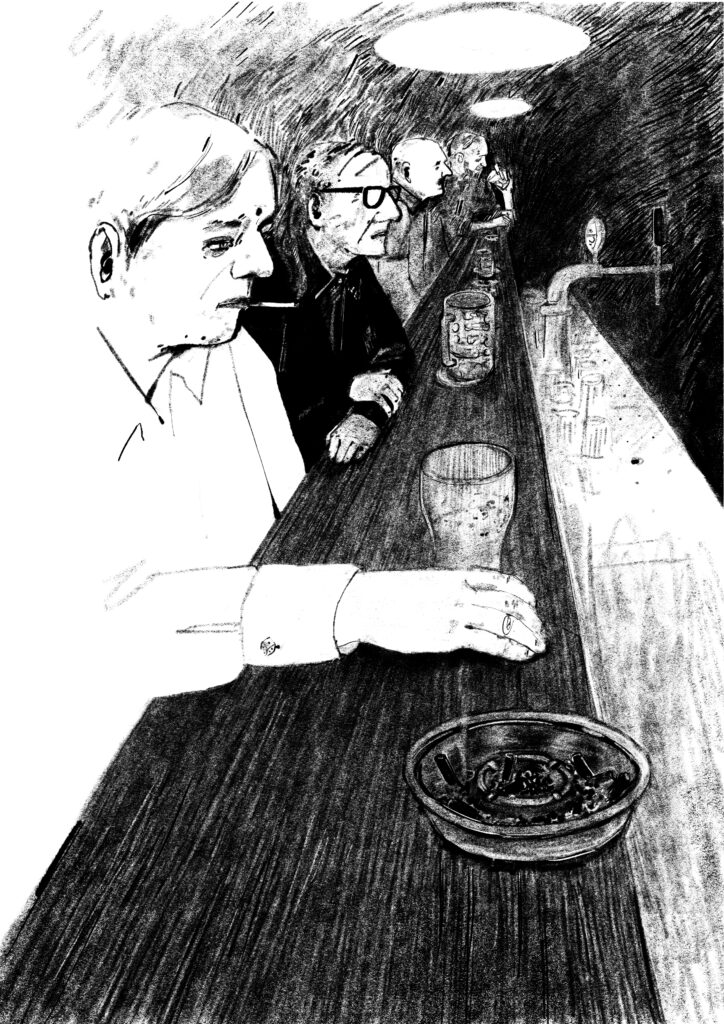 Depressing bar illustration from Freedom of Drinking