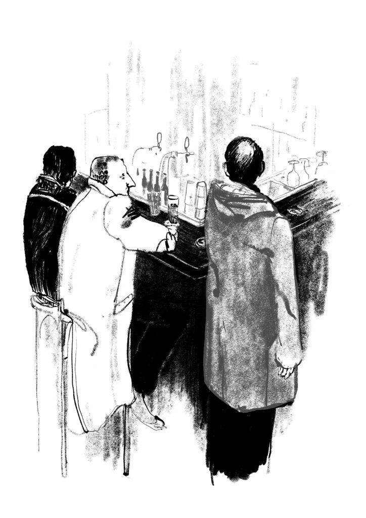 Smelly coat illustration from Freedom of Drinking