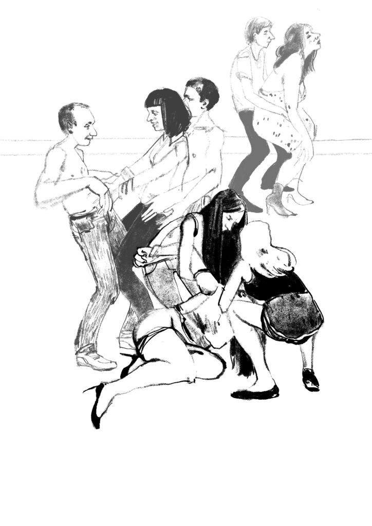 Drunken party illustration from Freedom of Drinking