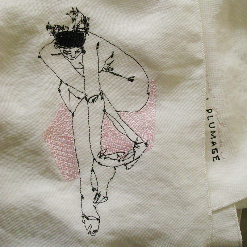 Nude-1 embroidery