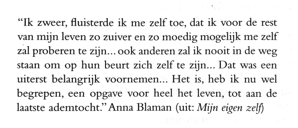 Anna Blaman on being yourself