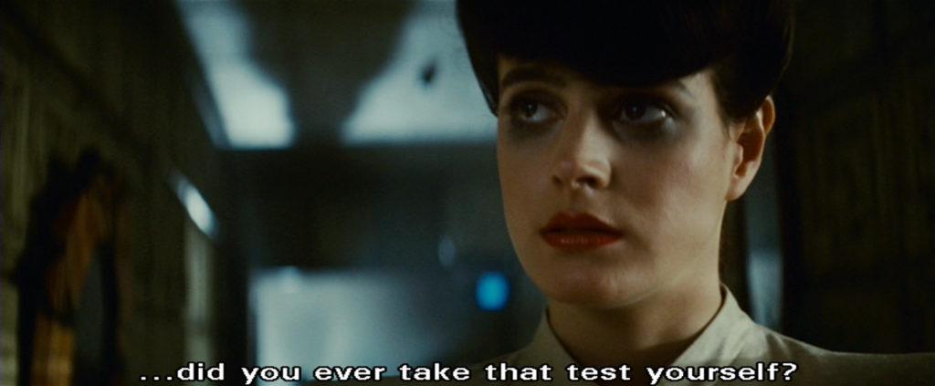 Blade Runner Rachel being sharp